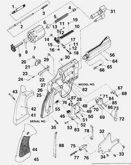 Smith  U0026 Wesson K Frame Hammer Block  Blue